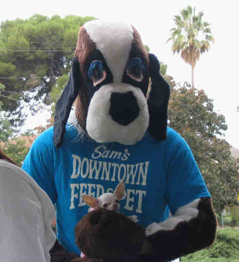 Downtown Dog, Sam's Downtown Feed and Pet Supply mascot will be there!